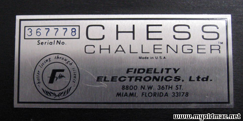 chess challenger fidelity electronics manual