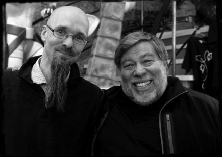 Steve Wozniak and Oliver at Computer Game Museum Berlin
